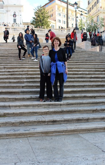 Marilynn and Declan on the Spanish Steps.