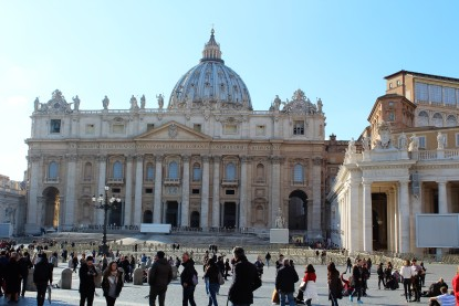 The closest we got to St. Peter's Basilica.