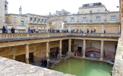 Roman Baths, sans roof, which is why the water's green.