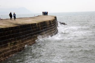 Cobb, 13th century seawall in Lyme Regis