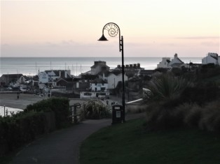 Check out the ammonite lampposts