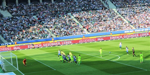 Free kick during the Hertha match.