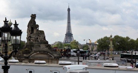 Eiffel Tower from the Place de la Concorde.