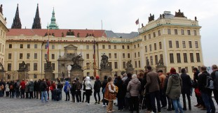 Two lines were hundreds deep to view Prague Castle. We gave it a pass.
