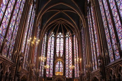Beautiful windows at Sainte-Chapelle