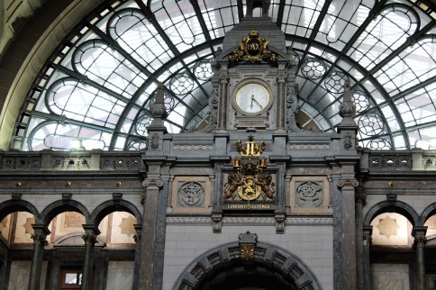 Antwerp central train station.