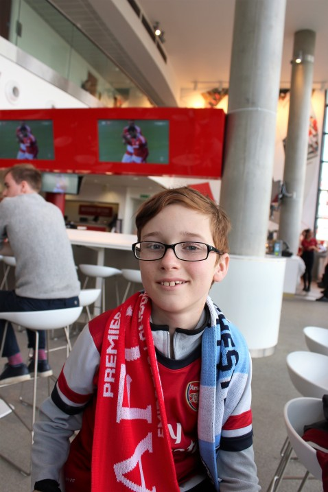 Declan in the club level lounge.