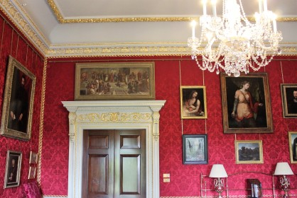 Portraits in many rooms are a recent addition.