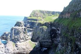 Cliffs around the Rathlin West Light Seabird Centre.
