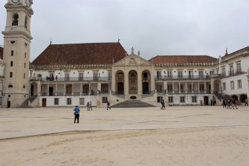 The courtyard of Universidade de Coimbra offers great city views.