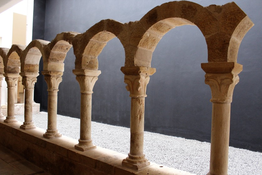 Cloister unearthed at the museum dates from the 11th or 12th century.