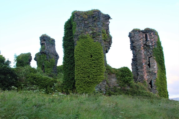 The remains of Green Castle in (naturally) Greencastle.
