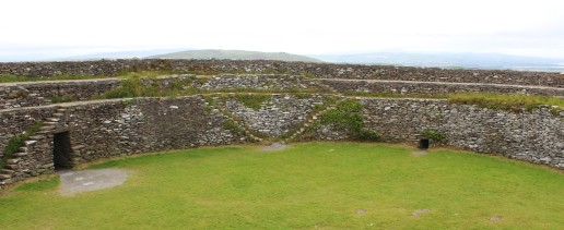 Grianán of Aileach, a rebuilt 8th or 9th century fort outside of Derry.