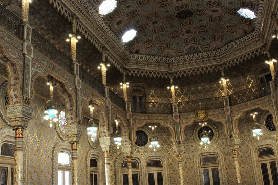 Arabian Hall (Salão Árabe) features intricate Moorish designs with 18 kilograms of gold leaf.