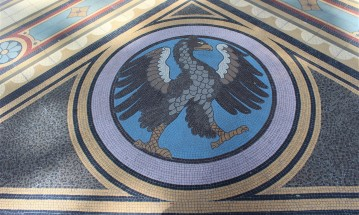 The four elements (including the eagle, representing air) can be found in the Hall of Nations.