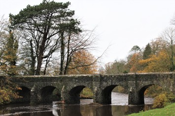Bridge alongside the Sixmilewater River provides a scenic respite during a visit to Antrim Castle Gardens.