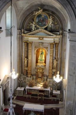 The altar at Santuario da Virxe Peregrina.
