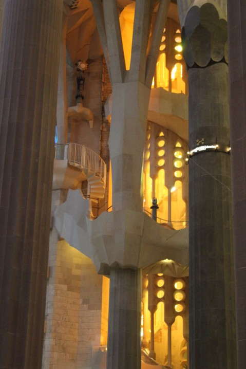 Gaudi eschewed straight lines, which create interesting angles.