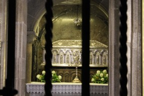 The tomb of St. James has a blinged-out resting place.